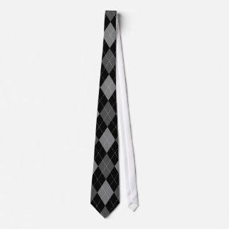 Lazo negro elegante del boda del modelo del argyle corbata personalizada