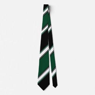 Lazo negro y del árbol de hoja perenne blanco II Corbatas Personalizadas