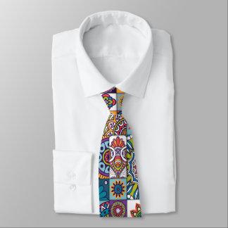 Lazo ornamental del fondo del mosaico corbata personalizada