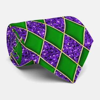 Lazo púrpura del carnaval del modelo de la corbatas personalizadas