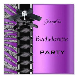 Lazo púrpura del corsé del diamante del negro del comunicados personalizados