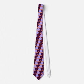 Lazo púrpura y anaranjado del caracol corbata