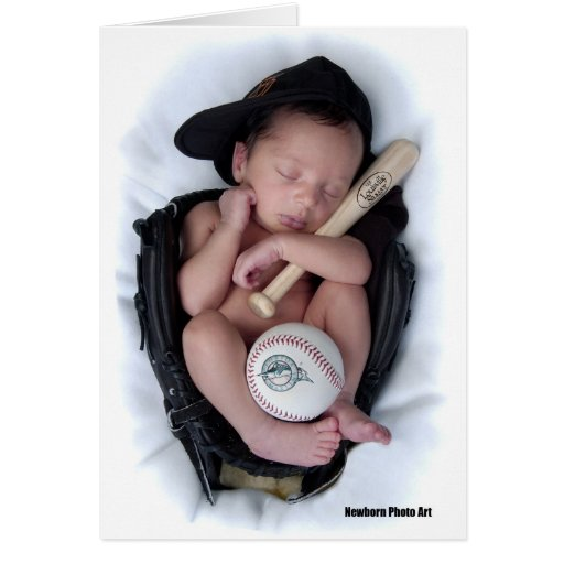 Lazo recién nacido del bebé del baloncesto tarjetas