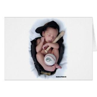 Lazo recién nacido del bebé del baloncesto felicitacion