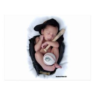 Lazo recién nacido del bebé del baloncesto tarjeta postal