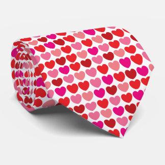 Lazo rojo del modelo del corazón corbatas personalizadas