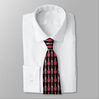 Lazo rojo negro de la belleza del maquillaje del corbata personalizada