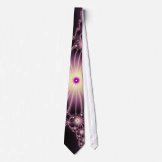 Lazo rosado de las flores del cordón corbatas personalizadas