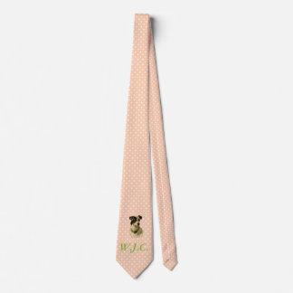 Lazo rosado de muy buen gusto corbatas personalizadas