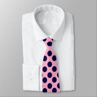 Lazo rosado y azul del lunar corbata