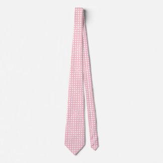 Lazo rosado y blanco de los diamantes corbatas