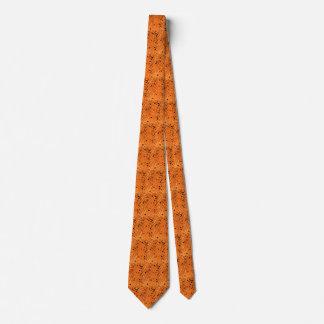 Lazo tejado espejos anaranjados metálicos corbata