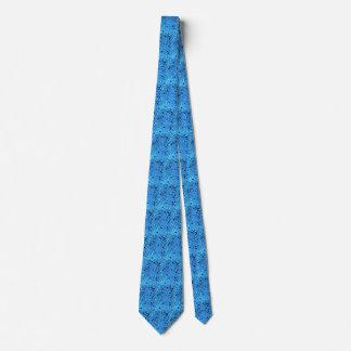 Lazo tejado espejos azules metálicos brillantes corbata personalizada