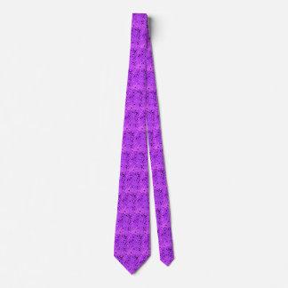 Lazo tejado espejos púrpuras metálicos brillantes corbata personalizada
