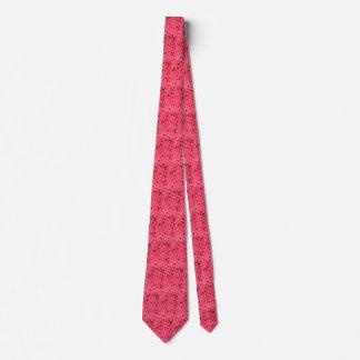 Lazo tejado espejos rojos metálicos brillantes del corbata