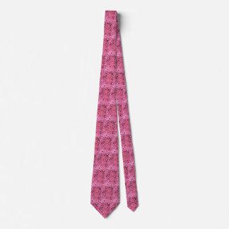 Lazo tejado espejos rosados metálicos brillantes corbata personalizada