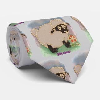 lazo tonto de las ovejas corbatas personalizadas