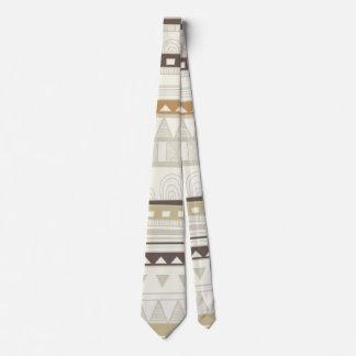 Lazo tribal de las rayas y de los diamantes del corbatas personalizadas