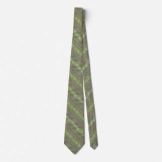 Lazo tropical de las rayas de la hoja corbatas