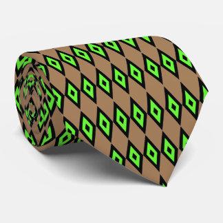 Lazo verde de los diamantes corbata