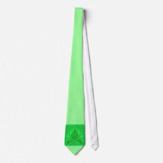 Lazo verde de neón de la hoja floral del vintage corbatas personalizadas