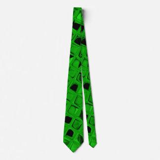 Lazo verde metálico brillante de los espejos del corbata