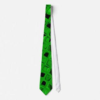 Lazo verde metálico brillante de los espejos del d corbatas