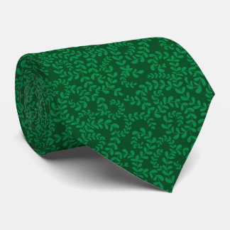 Lazo verde tonal de los remolinos florales corbata personalizada
