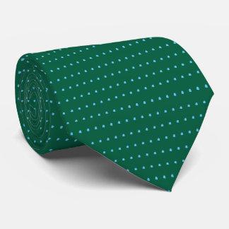 Lazo verde y azul de los lunares corbatas