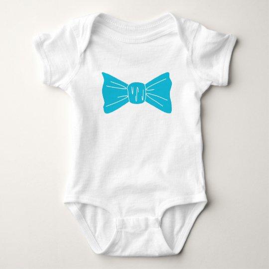 Lazo y corazón azules preciosos body para bebé