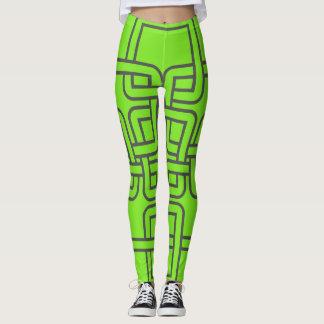 Lazos célticos verdes calientes leggings