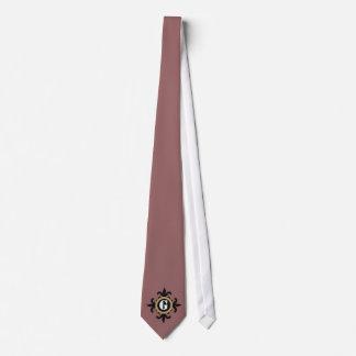 Lazos clásicos de la flor de lis del monograma corbata