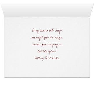 Lazos de George la tarjeta de Navidad de la luna
