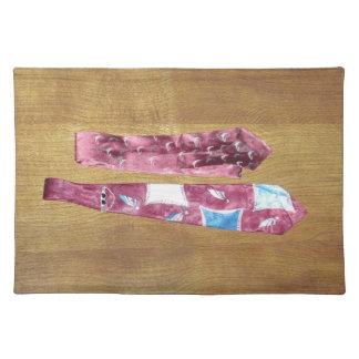 Lazos de seda del vintage manteles individuales