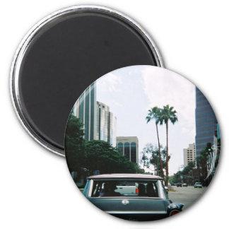 LBC - Long Beach, California Imán Redondo 5 Cm
