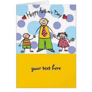 Le amamos el día de padre feliz de la familia del tarjeta de felicitación