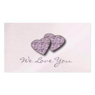 """""""Le amamos"""" las notas del amor Tarjetas De Visita"""
