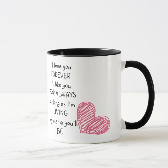 le amaré para siempre el día de madre taza