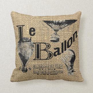 Le Ballon en la falsa arpillera Cojín Decorativo