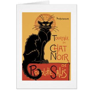 Le Chat Noir de Théophile Steinlen Tarjeta