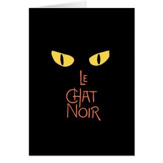 Le Chat Noir en la oscuridad Tarjeta De Felicitación