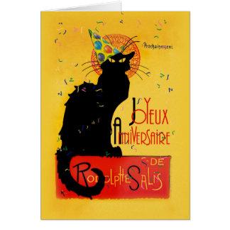 Le Chat Noir - Joyeux Anniversaire Tarjeta De Felicitación