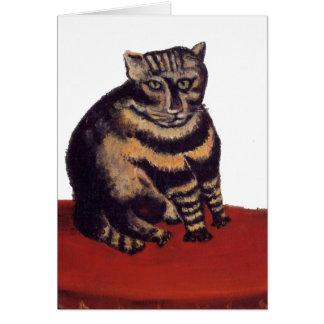 Le Chat Tigre, gato de Tabby Tarjeta De Felicitación