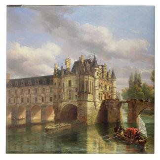Le Chateau de Chenonceau, 1843 (aceite en lona) Azulejo Ceramica