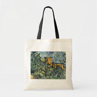 Le Château Noir de Paul Cézanne (la mejor calidad) Bolsa De Mano