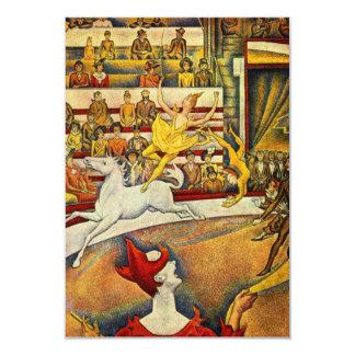 Le Cirque (el circo) por Jorte Seurat Invitación 8,9 X 12,7 Cm