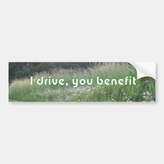 Le conduzco ventaja pegatina para coche