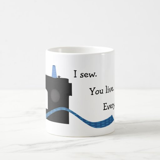 Le coso vivo diseño de costura divertido taza de café