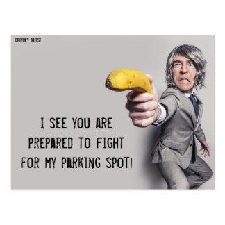 Le desafío a un duelo del plátano - nota del postal