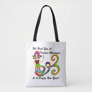 Le deseamos navidad creativo… Sirena Bolsa De Tela